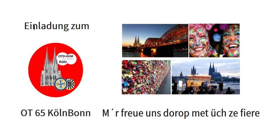 Einladung zum AGM 2017 in Köln