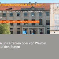 50. OTD AGM 2019 in Weimar 31.05.2019 – 02.06.2019