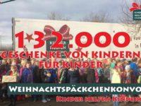 132.000 Kinderaugen werden wieder leuchten – Start des Weihnachtspäckchenkonvois