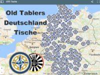 NEU: Deutschlandkarte aller OT-Tische! mit Tisch-Informationen.