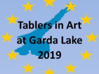 Tablers in Art at Lake Garda  July 2019