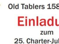 Old Tablers 158, Kalkar Einladung zum 25. Charter-Jubiläum am 28.09.2019