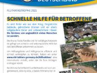 Spendenkonto Hochwasserhilfe – SonderNewsletter